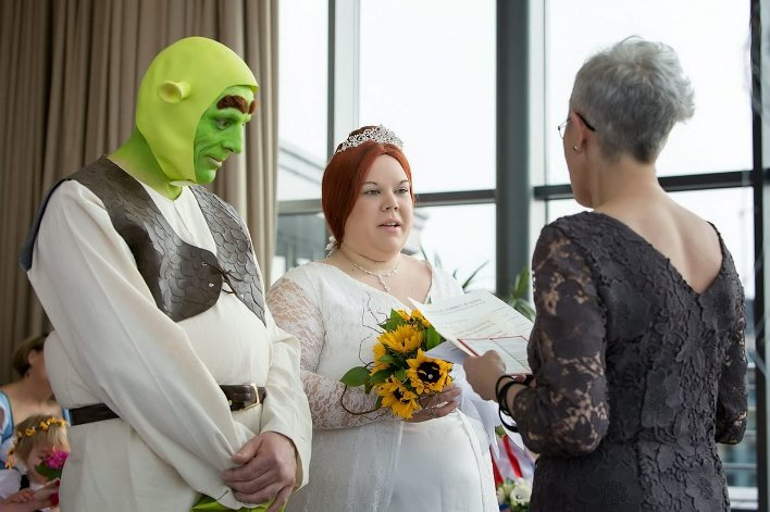 Стилизованные и креативные свадьбы, 30 фото