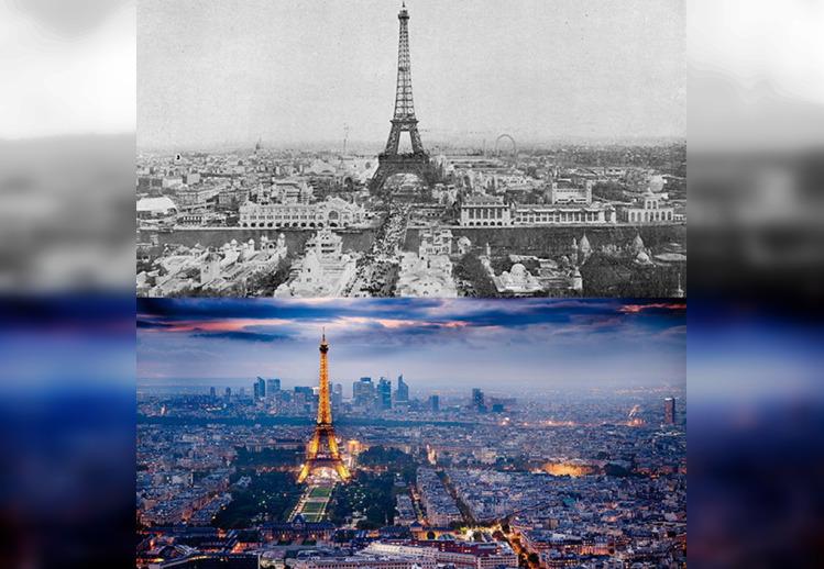 30 контрастных фото разных городов мира с прошлого и настоящего