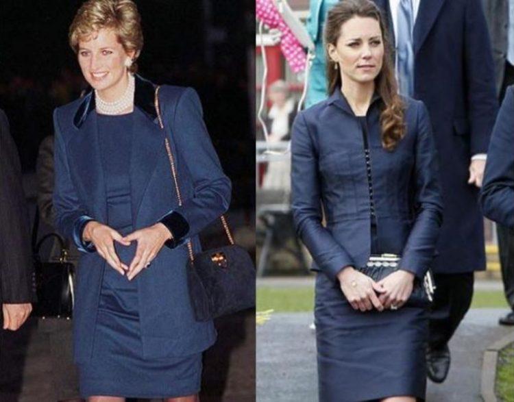 Keyt Middlton i Printsessa Diana v odinakovykh naryadakh